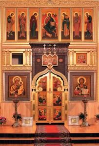 Внутреннее убранство храма, 2008г.