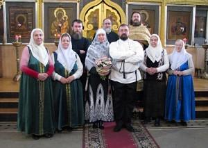 Автор статьи Михаил Панкратов на Остоженке (во втором ряду слева)