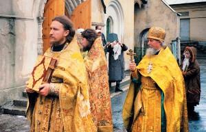 Освящение храма воимя сретения иконы Пресвятыя Богородицы Владимирския, 12декабря 1999г.