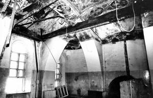 Внутренний интерьер храма до ремонта: второй этаж